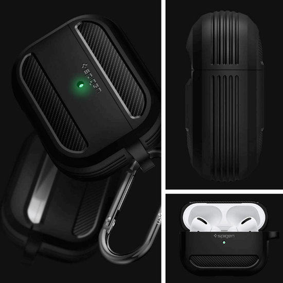 Picture of Spigen Rugged Armor for Apple Airpods Pro Case  - Black