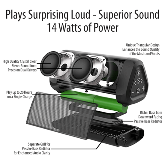 Picture of OontZ Angle 3 Ultra speaker (14 watts) IPX7 (Black)
