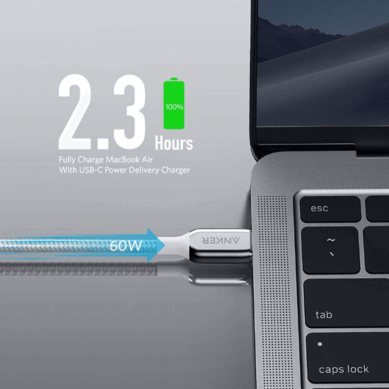 Picture of Anker PowerLine+ III USB C TO USB C (1.80cm) Silver