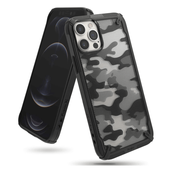 Picture of Ringke Fusion X Case for iPhone 12 / 12 Pro (Camo Black)