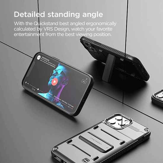 Picture of VRS Design Damda QuickStand case for iPhone 12 Pro Max (Black)
