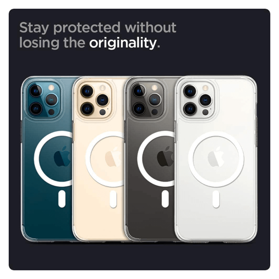 Picture of Spigen Ultra Hybrid Mag Case for iPhone 12 / 12 Pro (White Ring)