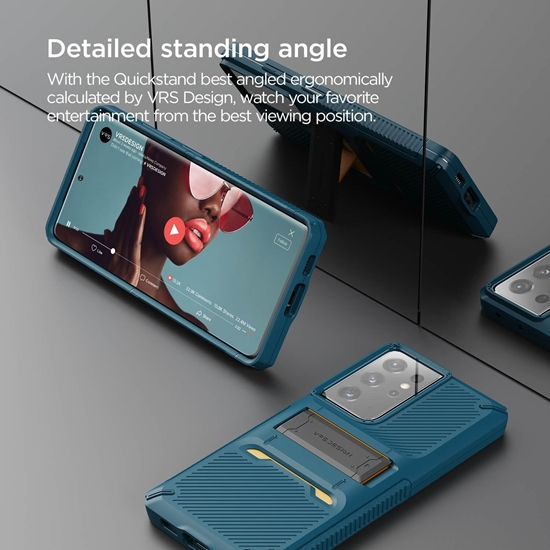 Picture of VRS DESIGN Damda QuickStand Pro Case for Galaxy S21 Ultra (Blue)