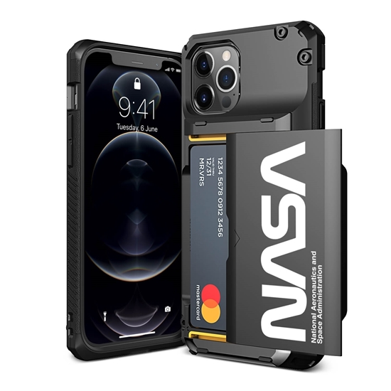 Picture of VRS DESIGN Damda Glide Pro Case for iPhone 12 / 12 Pro (Black-Nasa-Ultra Text)