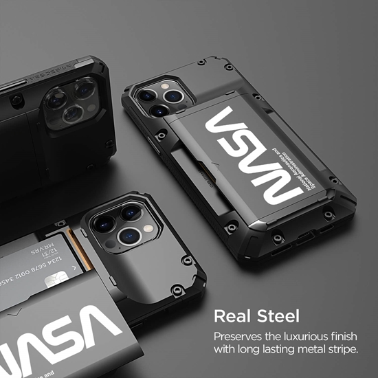 Picture of VRS DESIGN Damda Glide Pro Case for iPhone 12 Pro Max (Black-Nasa-Ultra Text)