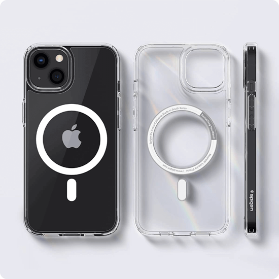 Picture of Spigen Ultra Hybrid Mag for iPhone 13 Case (White Ring)