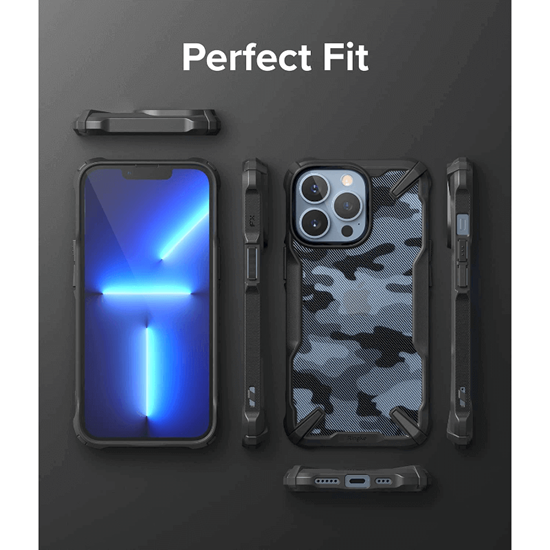 Picture of Ringke Fusion X Case for iPhone 13 Pro Max (Camo Black)